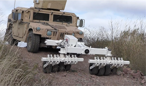 CSI & Humanistic Robotics Awarded Contract to Provide the Afghan National Army with Mine Rollers